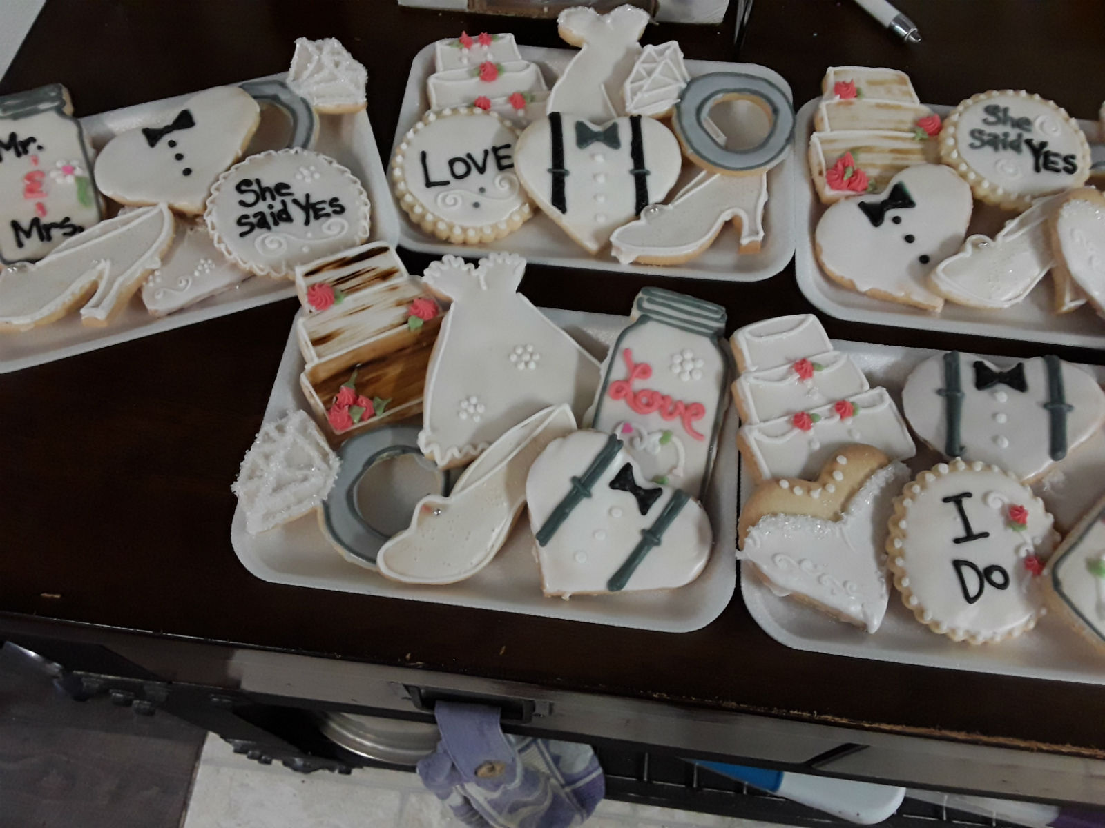 Masonjarthemeweddingcookies