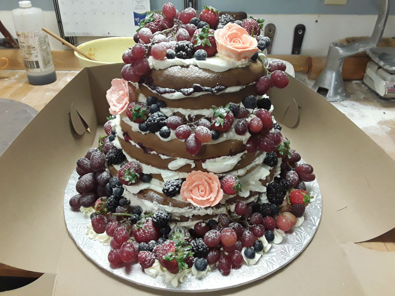 FruitNudeWeddingCake